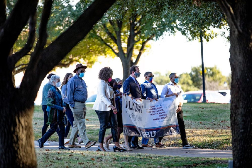DALLAS BAPTIST UNIVERSITY: DBU Honors the Legacy of Dr. King through Service and Unity Walk